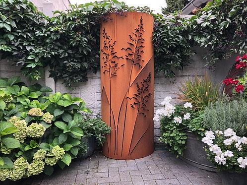 "Edelrost - ""Säule"" halbrund 160cm"