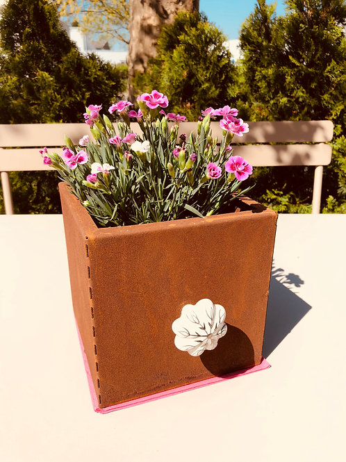 """Edelrost """"Schublade"""" zum Bepflanzen eckig klein"""