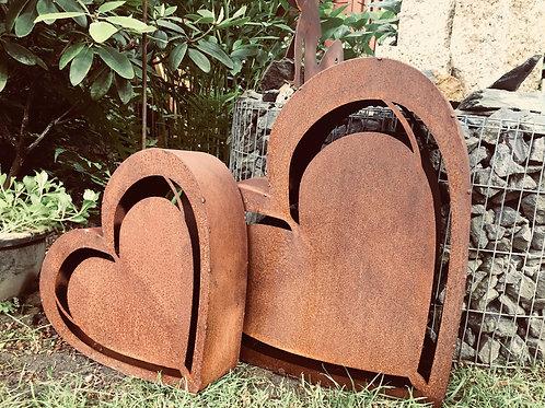 Edelrost - Herz rostig klein