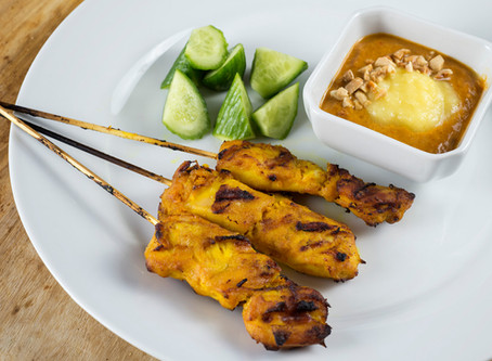 Satay Peanut Nyonya with Grilled Chicken