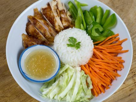 Ginger Garlic Chicken Rice Bowl