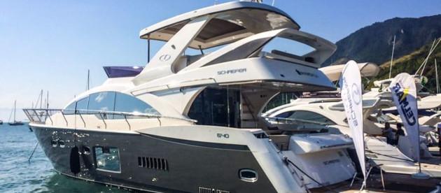 Lancha de 64 pés da Schaefer Yachts é destaque em Ilhabela