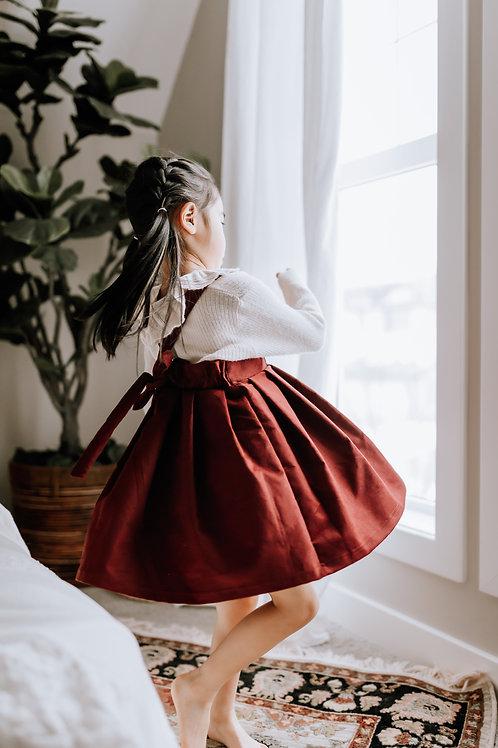 Rosie Suspender Skirt in Mulberry