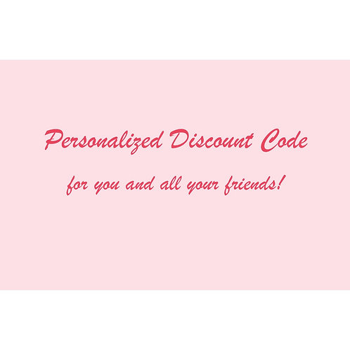 Personalized Discount Code