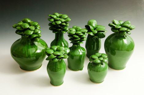Assorted Green Flower Pots