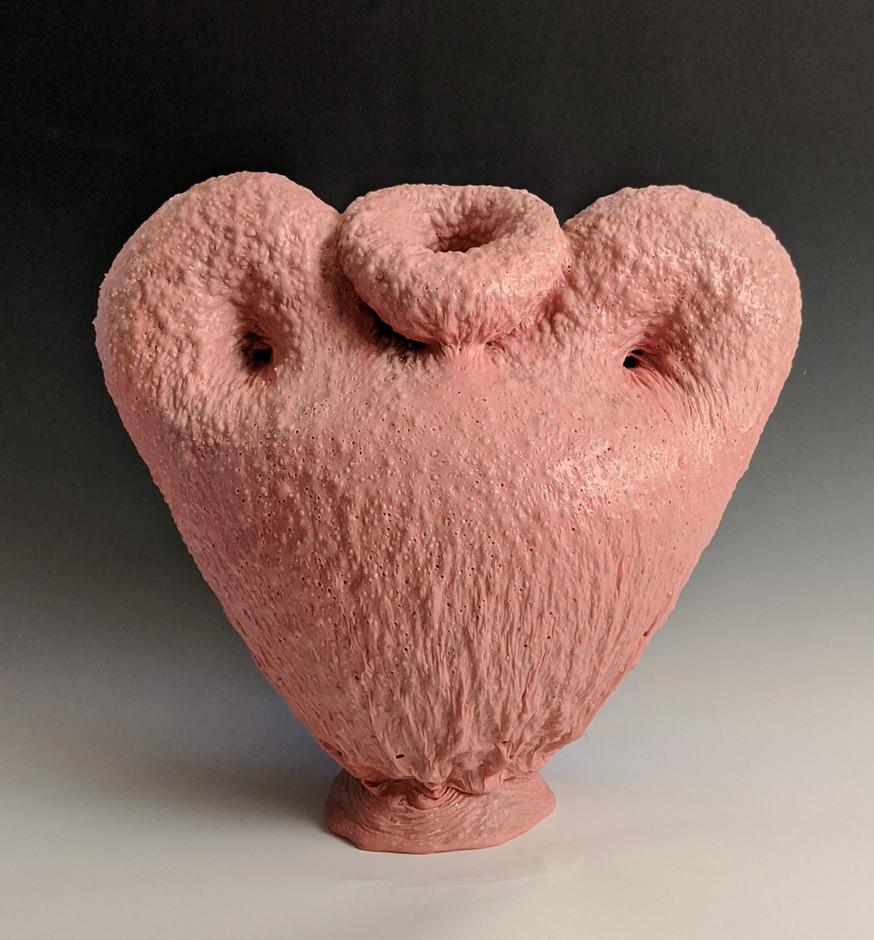 Pink Cherub Vase