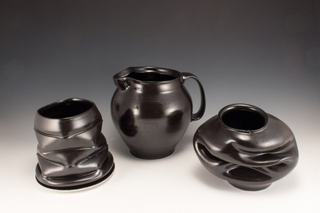 Assorted Vessels in Black