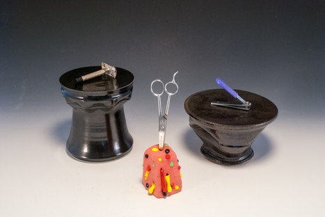 Assorted Pedestals and Holster