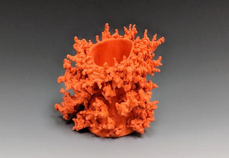 Orange Shot Glass