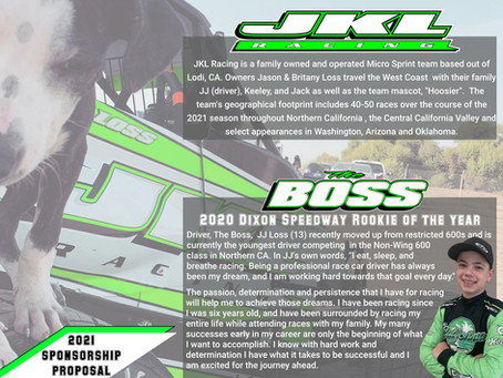 JKL Racing Seeks Marketing Partners for the 2021 Season