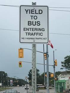 Yielding to Transit Buses