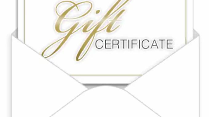 Gift Certificate (45min steam)