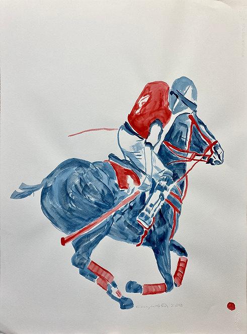 watercolor Polo K by Eleazar Delgado