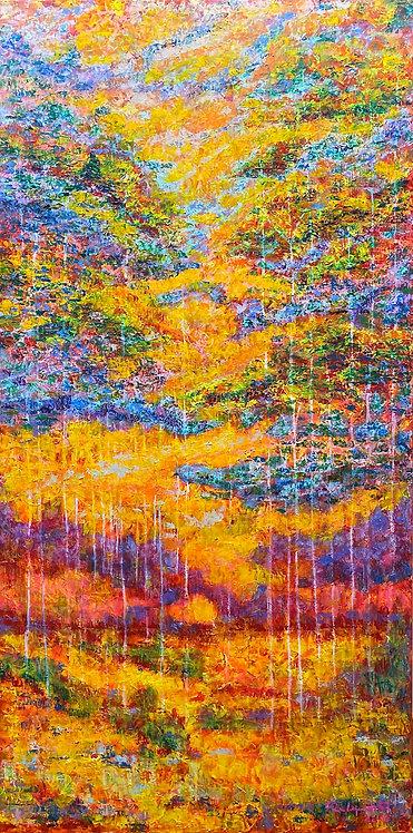 Ghosts of Trees oil painting by Eleazar Delgado Studio Fine Art