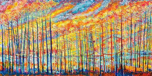 Color-changing chromatic art oil painting Awakenings II by Eleazar Delgado Studio Fine Art