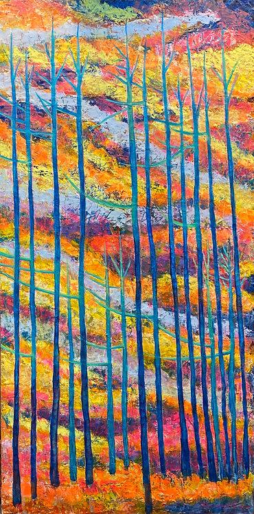 Passing On oil painting by Eleazar Delgado Studio Fine Art