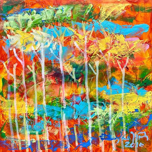 color changing chromatic art Untamed-6 III by Eleazar Delgado