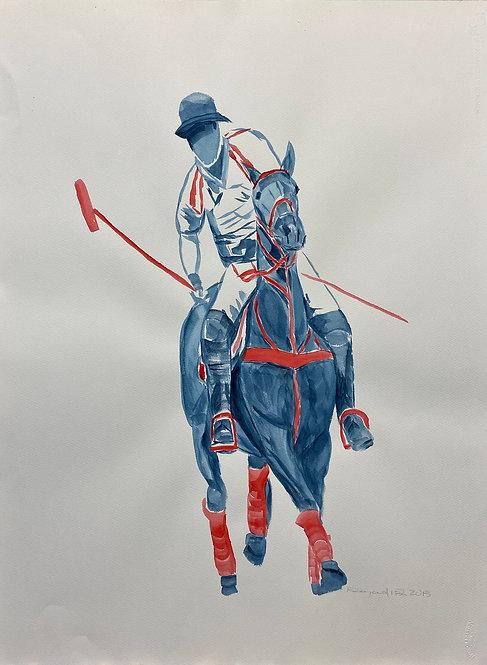 Watercolor Polo M by Eleazar Delgado Studio Fine Art