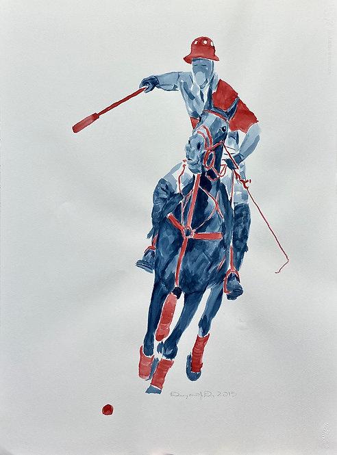 watercolor Polo J by Eleazar Delgado