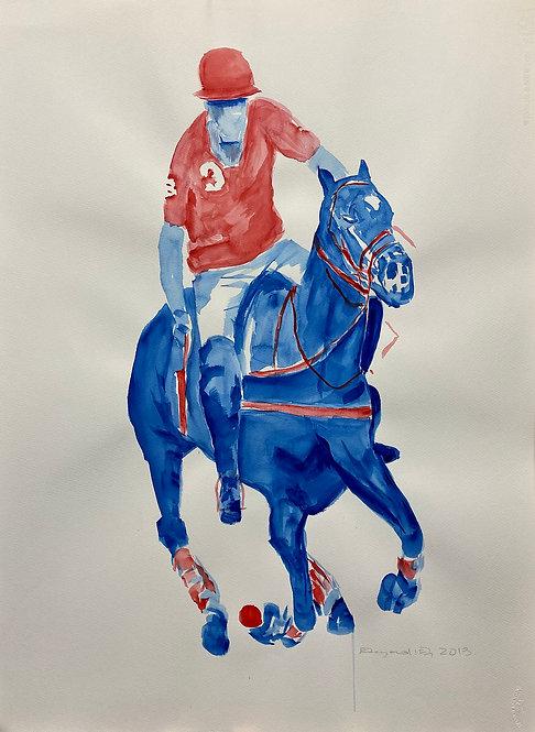 watercolor Polo L by Eleazar Delgado Fine Art