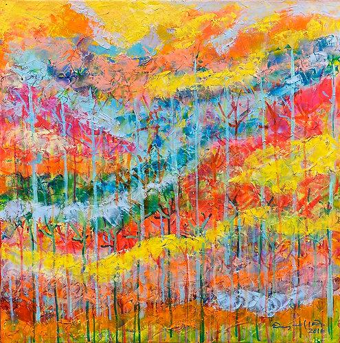 color changing chromatic art Untamed-16 III by Eleazar Delgado
