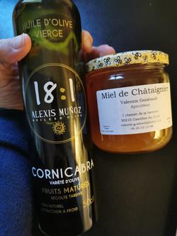 Huile d'Olive et Miel de Châtaigne