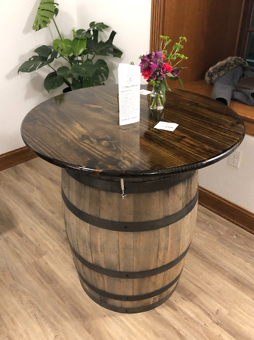 3' Round Barrel Table Rental