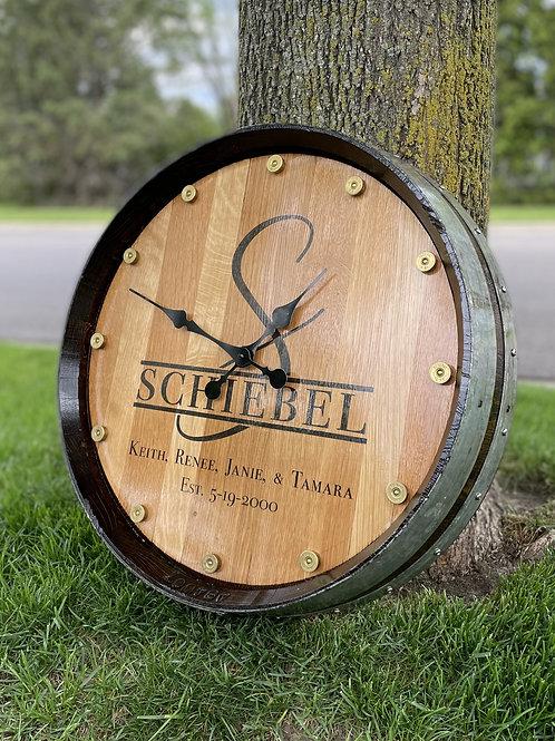 Custom Barrel Clock