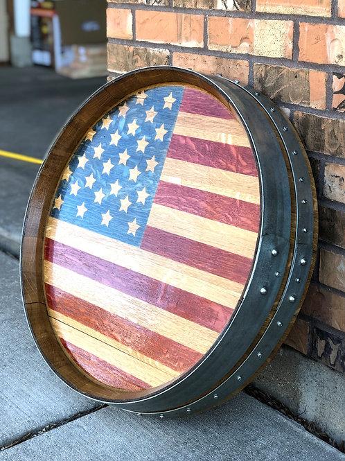 American Flag Barrel Head