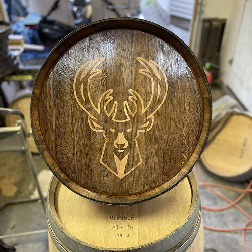 Milwaukee Bucks Barrel Top Sign