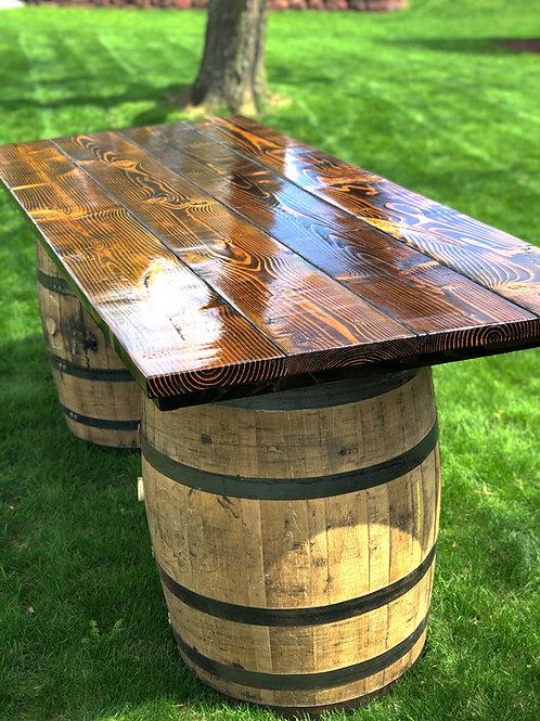 Two Barrel Rectangular Table