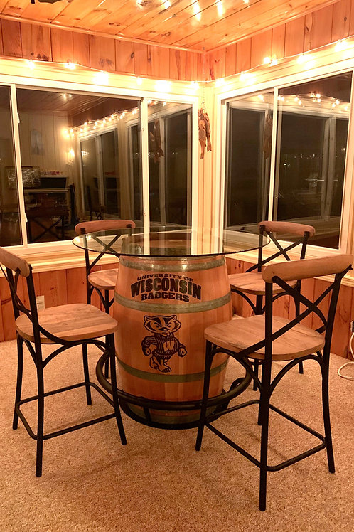 Wine Barrel Bucky Table
