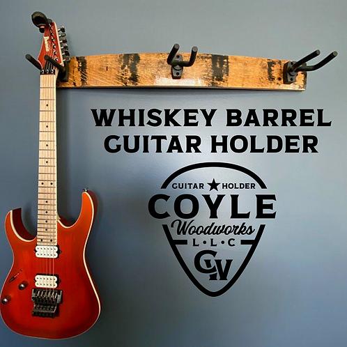 Whiskey Barrel Stave 3 Guitar Holder
