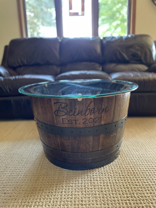 Whiskey Barrel End Table