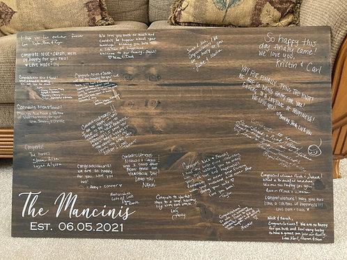 Wedding Guest Book Board