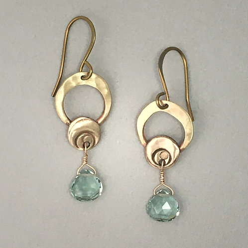 Moon Earrings with Apatite