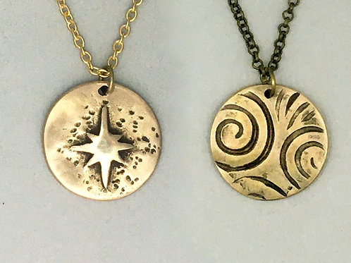 Star-Spiral Reversible Necklace