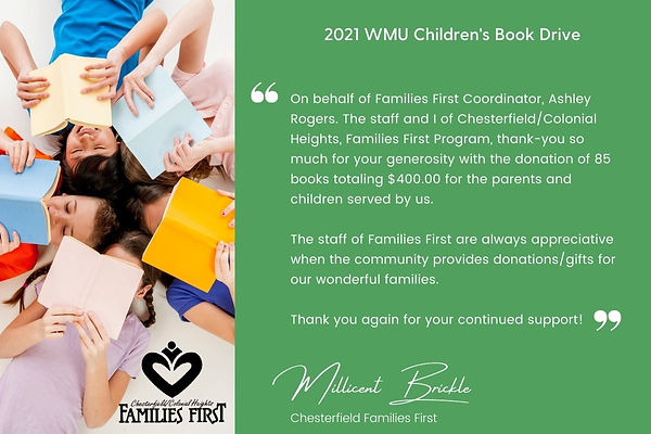 Chesterfield Families First Thank You 20