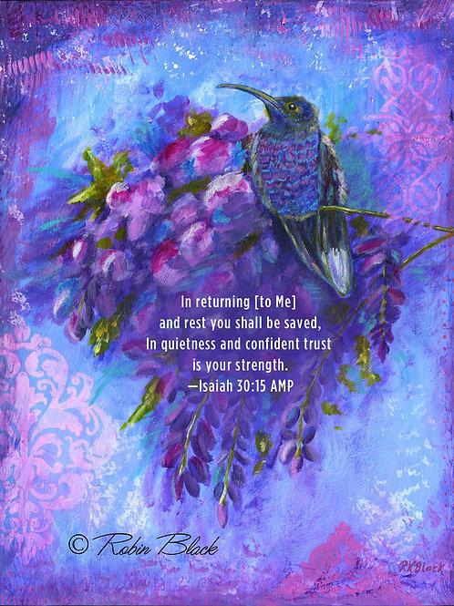 Resting Wisteria—Isaiah 30:15 Print