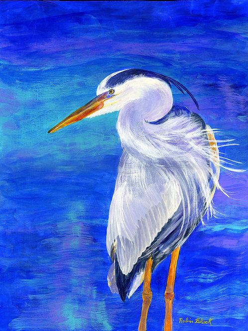 "My Soul Waits Great Blue Heron 8 x 10"" print"