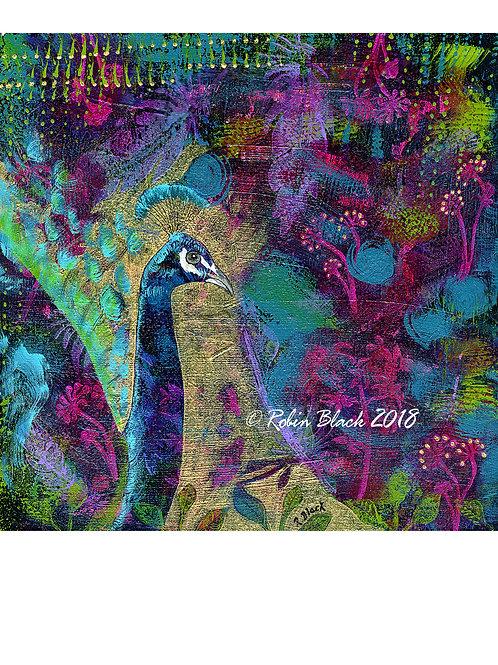 """God's Jewels—Peacock 8x10"""" print"""