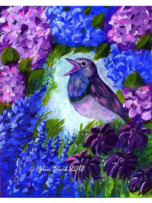 Sing! original acrylic painting