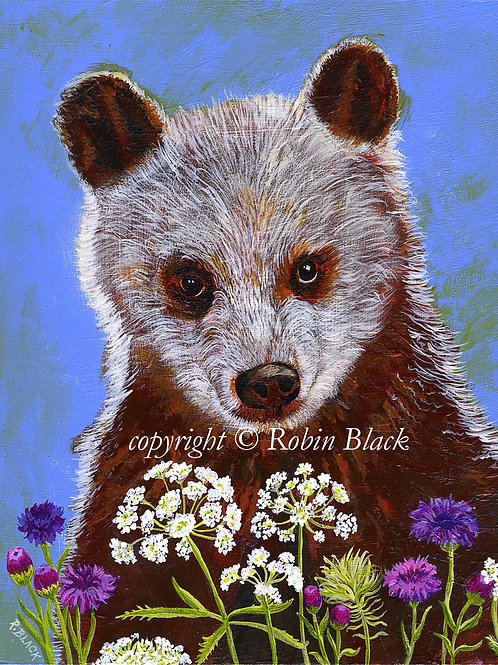 Woodland Brown Bear Original Painting