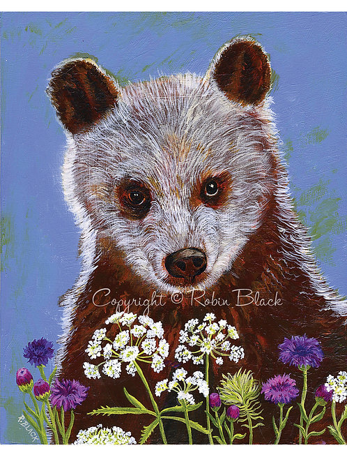 Woodland Brown Bear Print