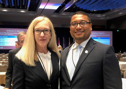 Jennifer Green and AJ Johnson at the American Orthopaedic Association Conference