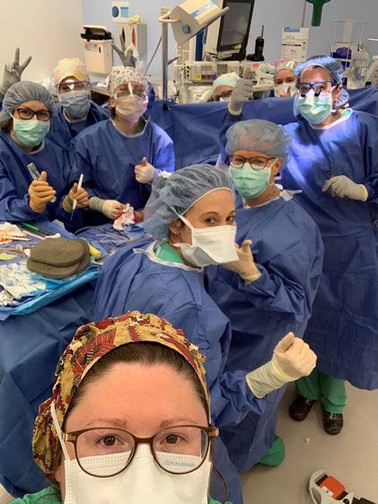 All female General and Orthopaedic Surgery team