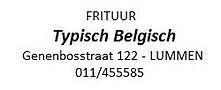 Frituur Typisch Belgisch Lummen