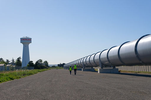 HyperloopTT's testing facility in Toulouse, France