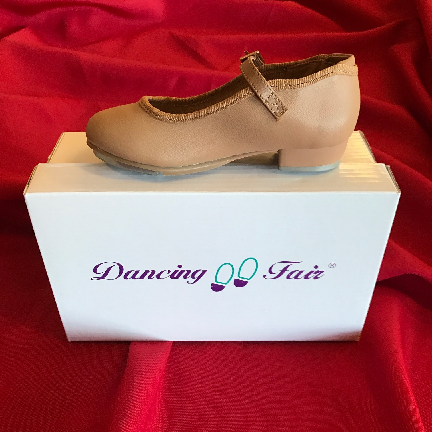 Tan Buckle Strap Tap Shoes
