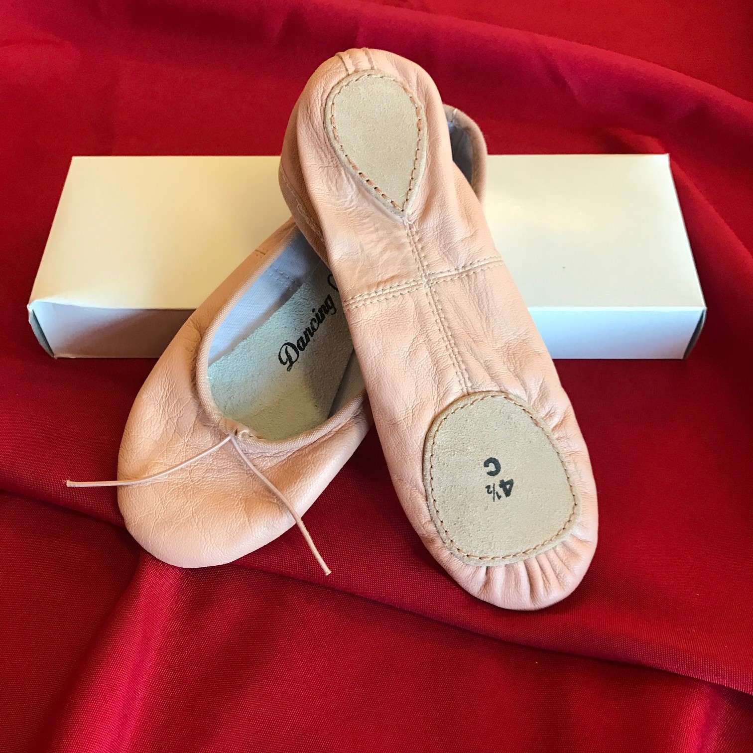 Split Sole Leather Ballet Slippers